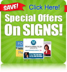 Special Offers on Real Estate Signs